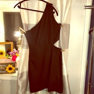 Forever 21 Black Cut Out Dress